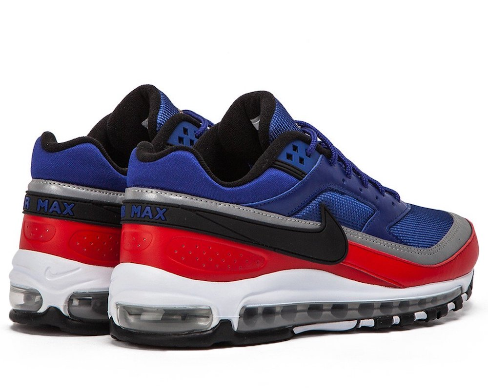 new product 5a6ac 07188 Dettagli su NIKE AIR MAX 97 BW DP ROYAL BLUE UNIVERSITY RED SNEAKERS SCARPE  UOMO AO2406-400