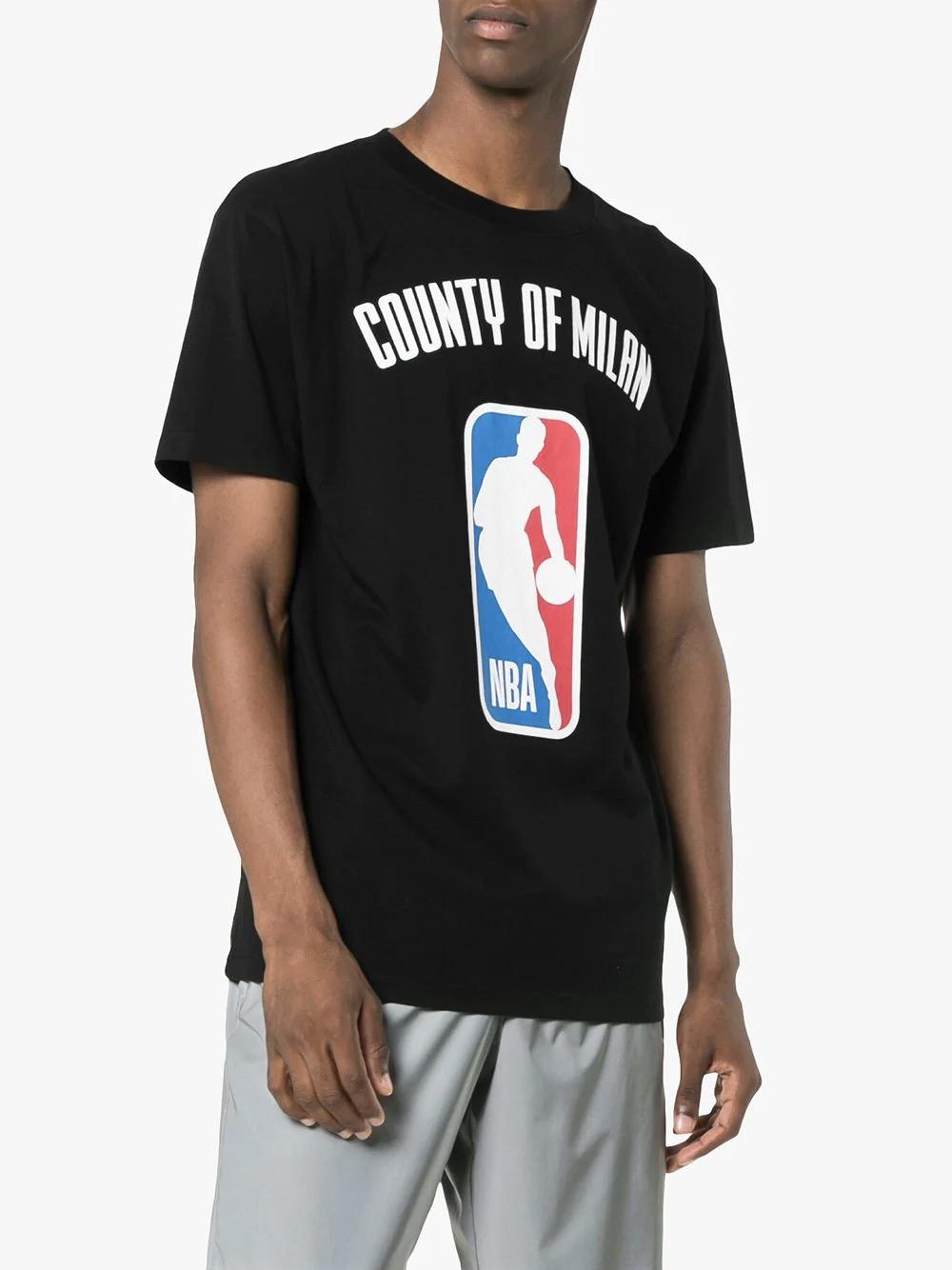 be102805c Dettagli su MARCELO BURLON x NBA COUNTY OF MILAN LOGO T-SHIRT UOMO  CMAA018F18001115