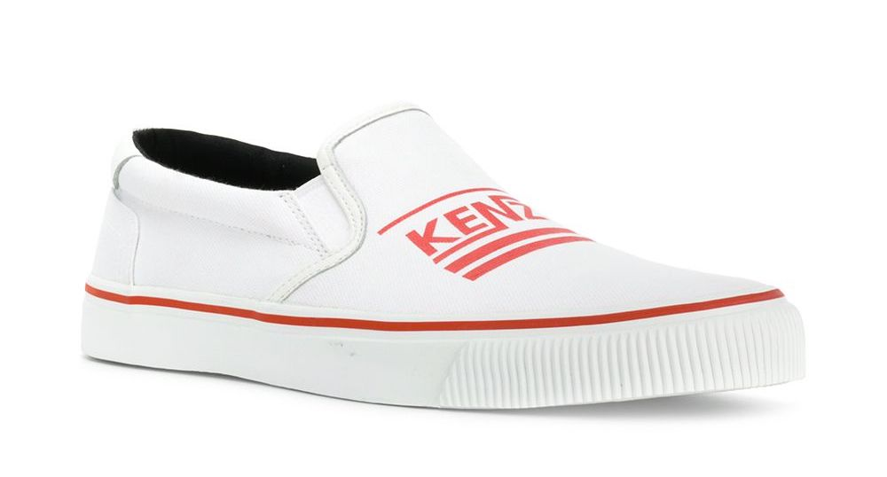 huge selection of 2d8db ccb1a Détails sur KENZO SCARPE UOMO K-SKATE LOGO SLIP ON SNEAKERS F855SN100F76