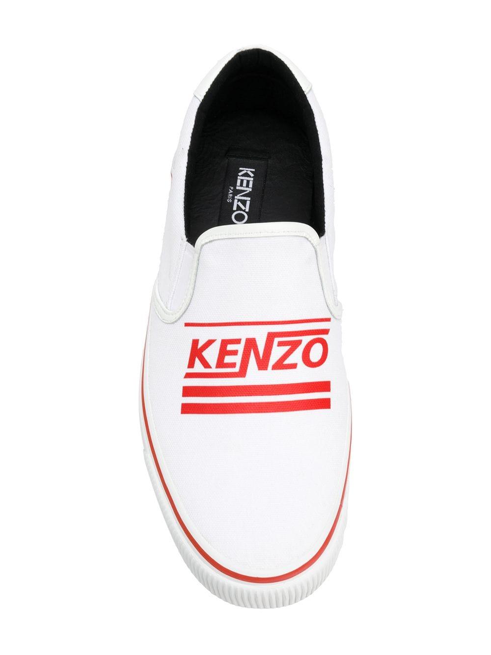 Detalhes sobre KENZO HERREN SCHUHE K SKATE LOGO SLIP ON SNEAKERS F855SN100F76