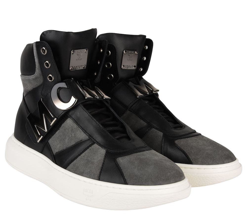 Details about MCM LOGO STRAP HIGH TOP SNEAKERS HERREN SCHUHE MADE IN ITALY MEX8AMM27