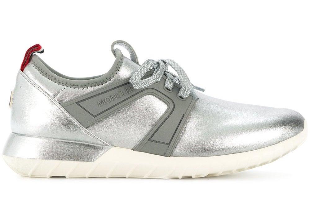 codici promozionali scarpe autunnali stile squisito Dettagli su MONCLER SCARPE DONNA MELINE LOGO SNEAKERS MADE IN ITALY  2021000019LN