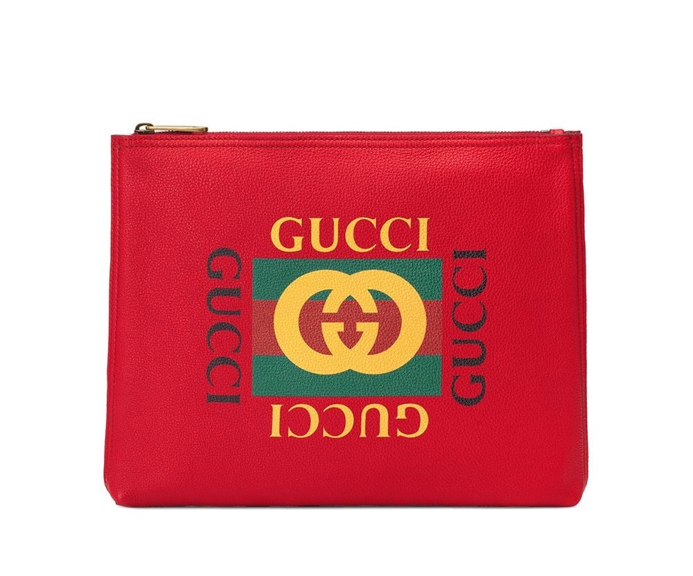 Gucci Web Logo Clutch Bag