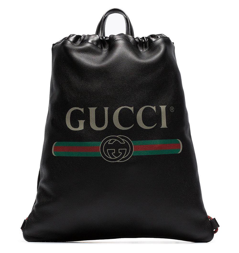 Gucci Drawstring Logo Backpack