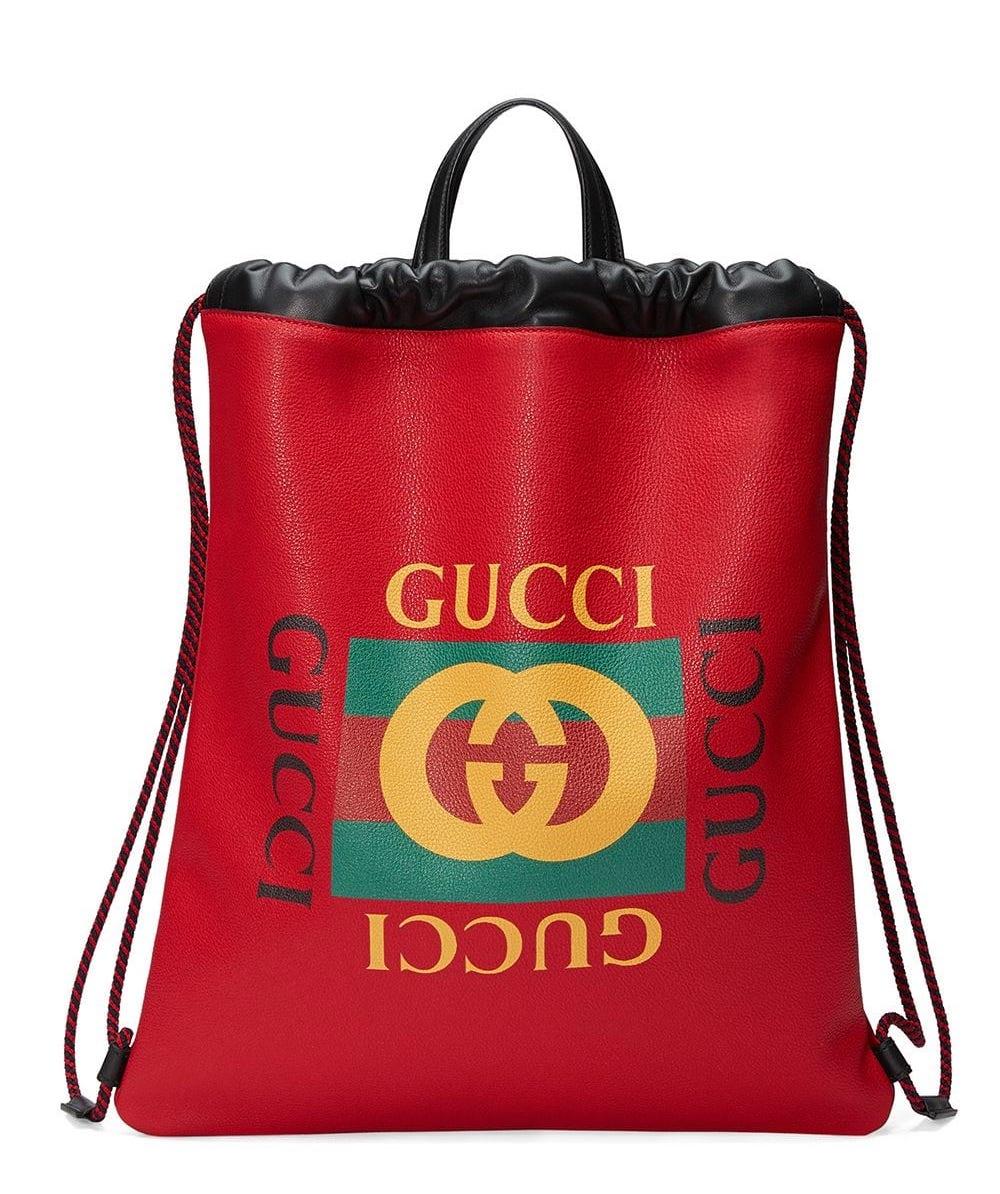 Gucci Web Print Backpack