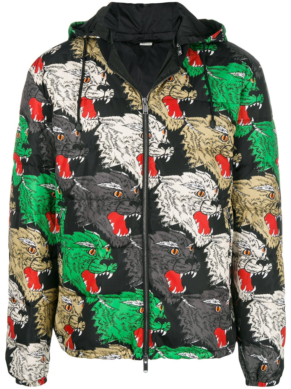 30644ec9 GUCCI MEN DOWN JACKET PANTHER ANGRY CAT PADDED BOMBER 526428Z785C | eBay