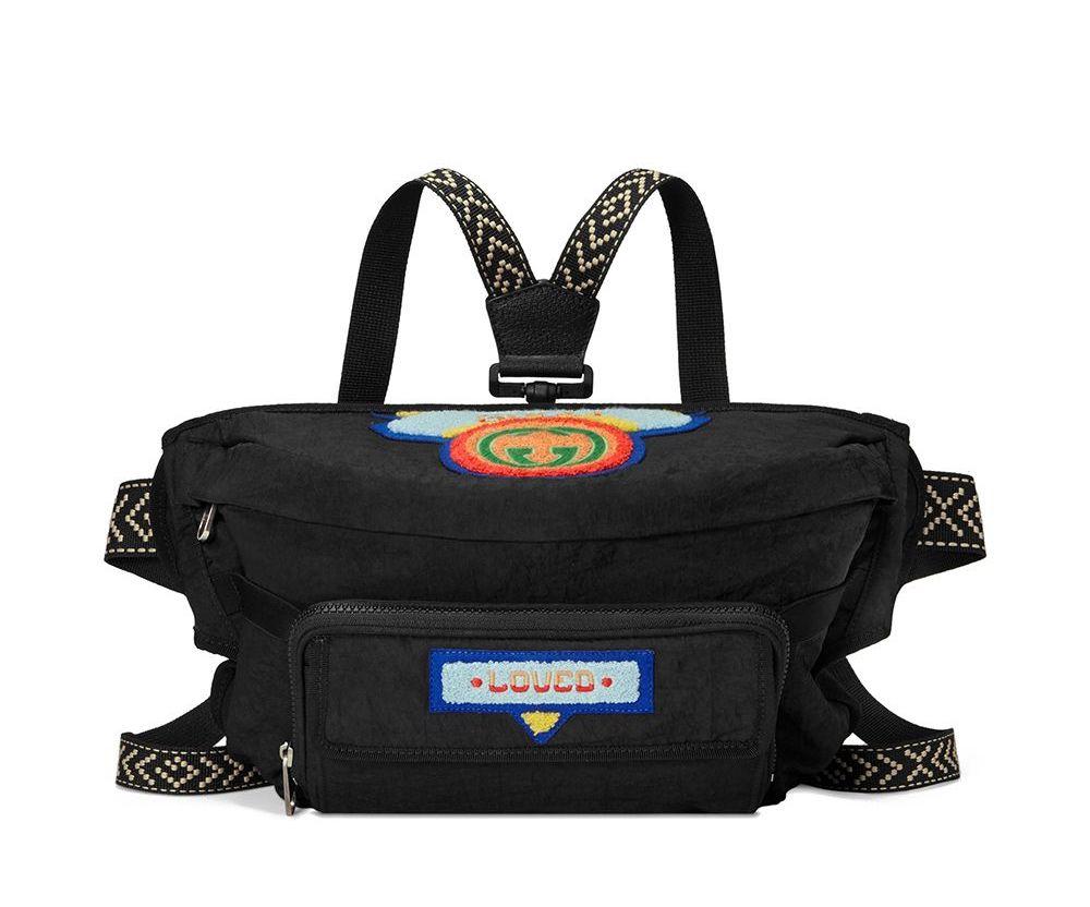Gucci 80's Patch Logo Fanny Pack Bum Bag