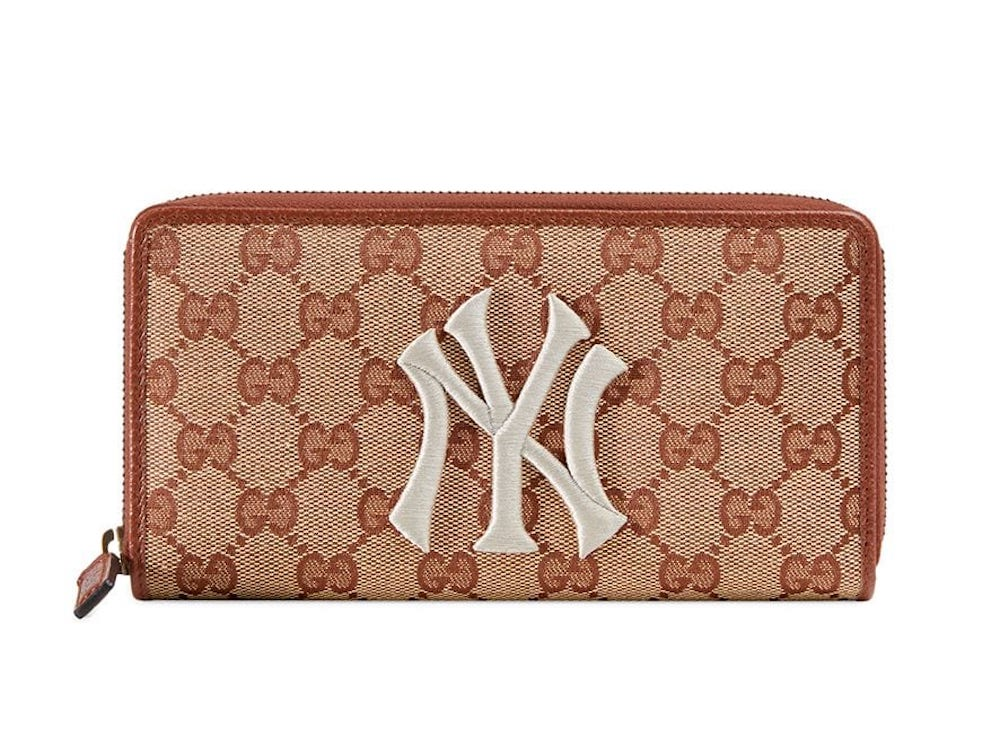 Gucci x NY Yankees Original GG Zip Around Wallet