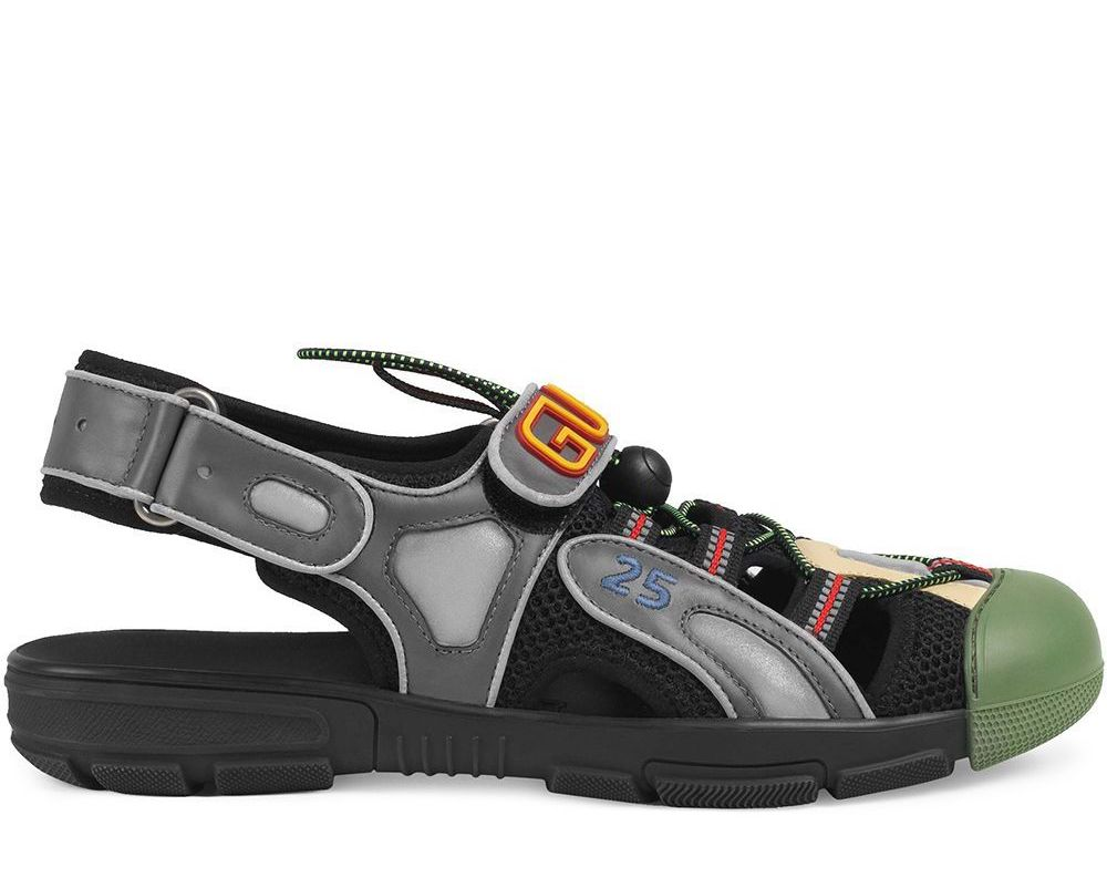 Gucci Logo Mixed Sneakers Sandals