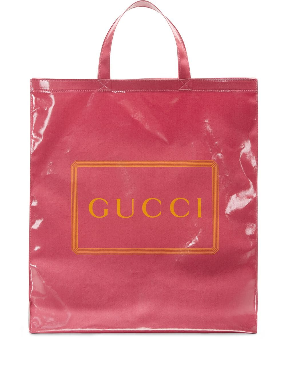 Gucci Logo Print Medium Tote Bag