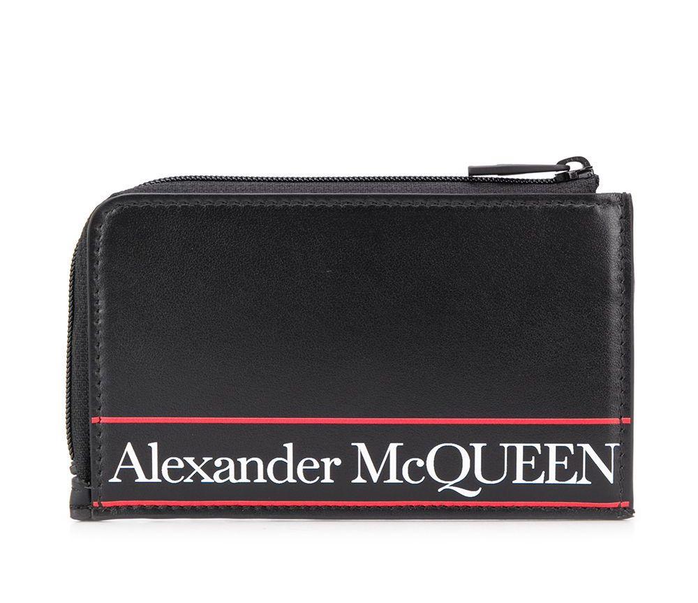Alexander McQueen Logo Zip Wallet