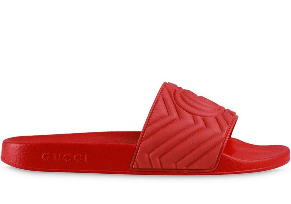 GG Matellassé Logo Slides Sandals