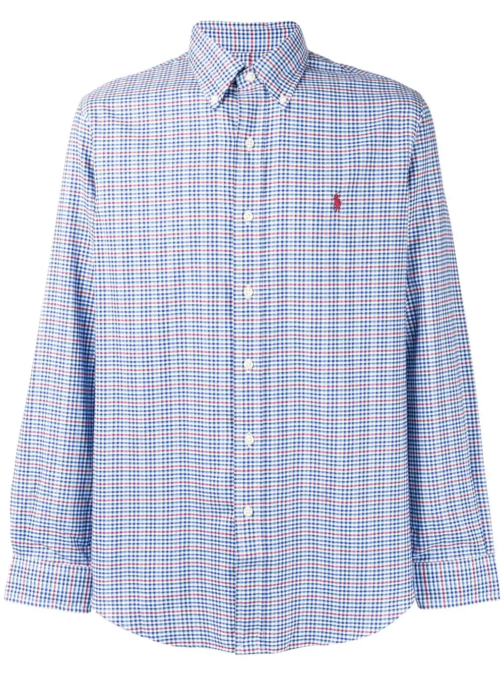 new concept 2fa22 e23d5 Dettagli su POLO RALPH LAUREN CAMICIA UOMO CHECKED PONY LOGO SHIRT 710716300