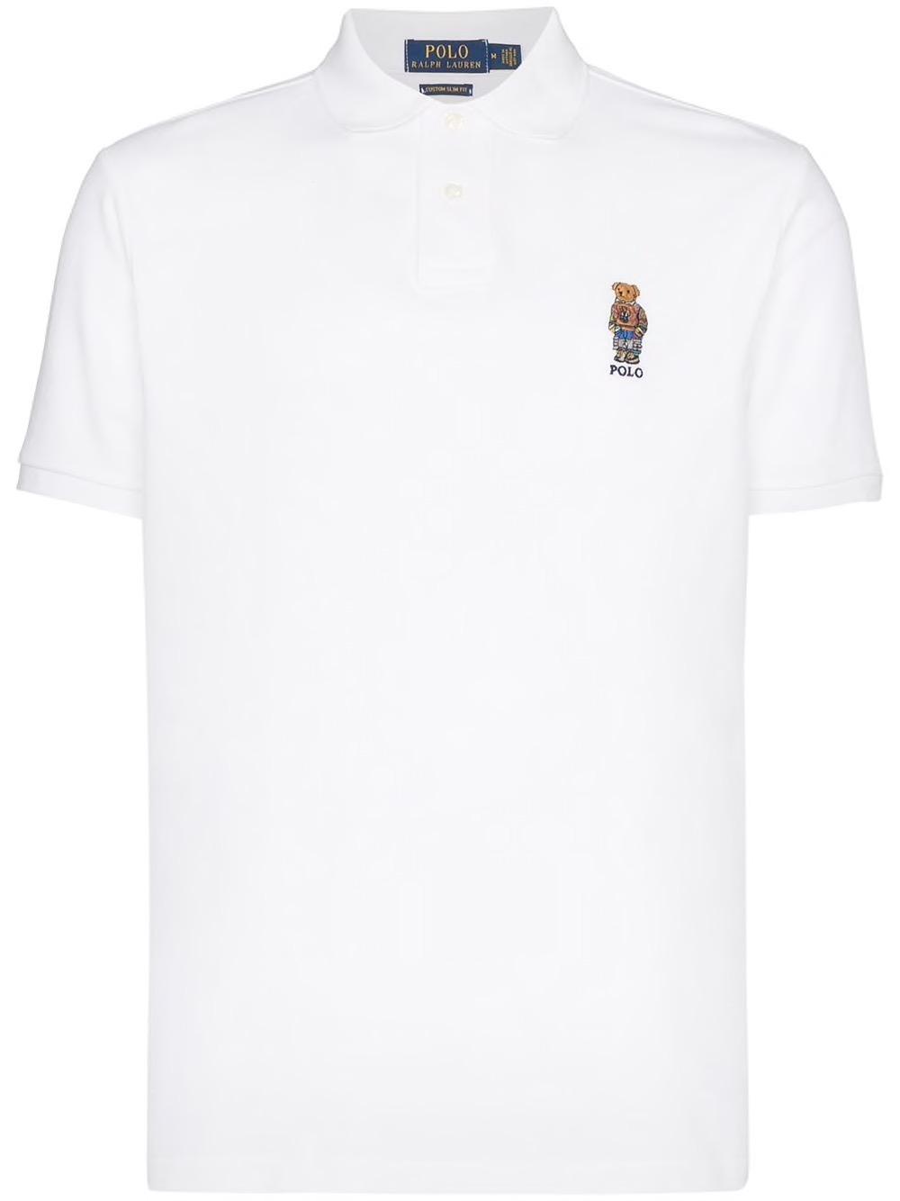 Teddy Bear White Polo Shirt