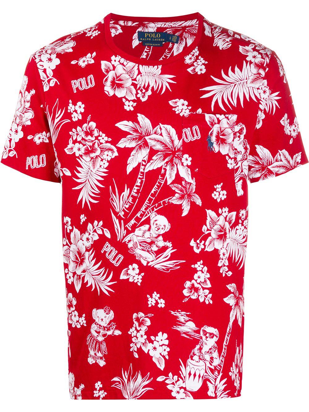Floral Bearwaiian Logo T-Shirt
