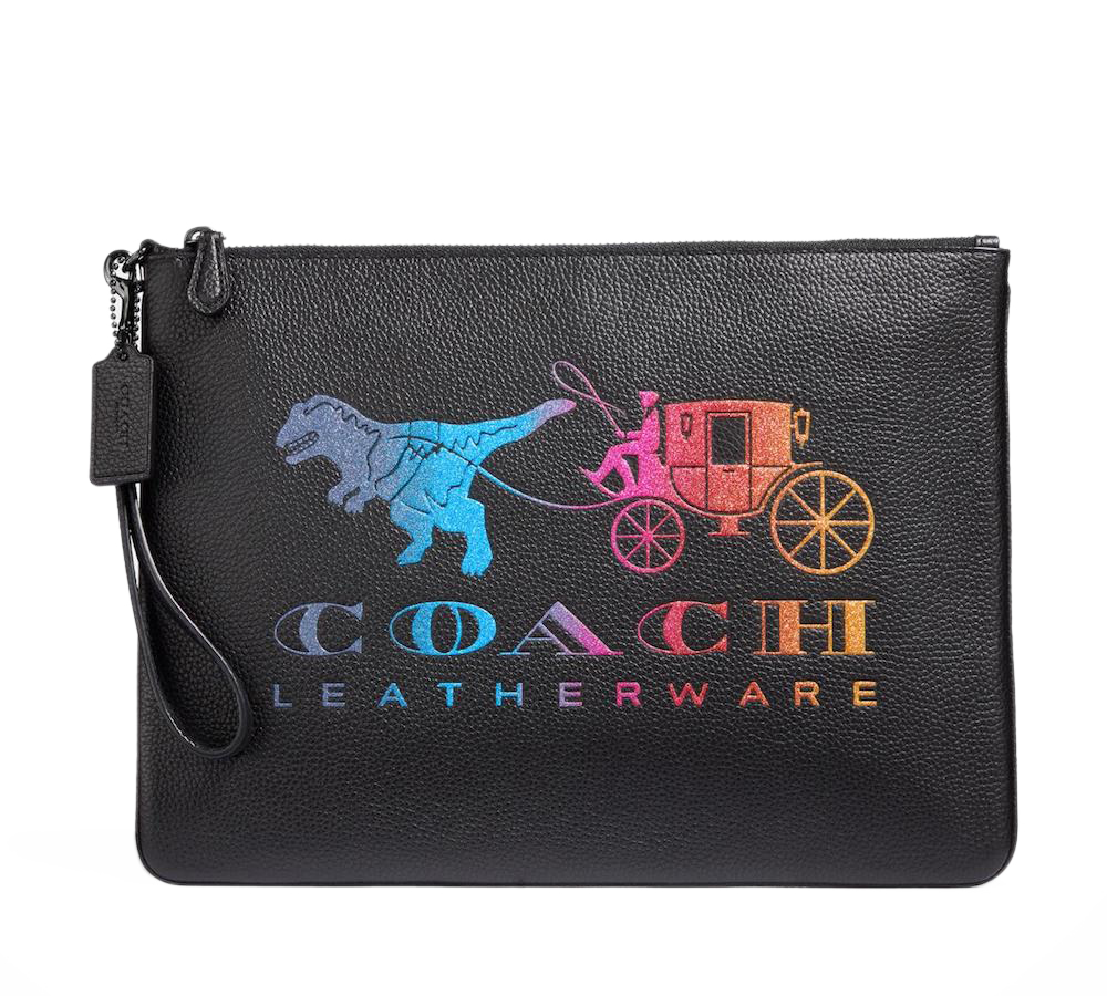Rexy Carriage Logo Clutch Bag