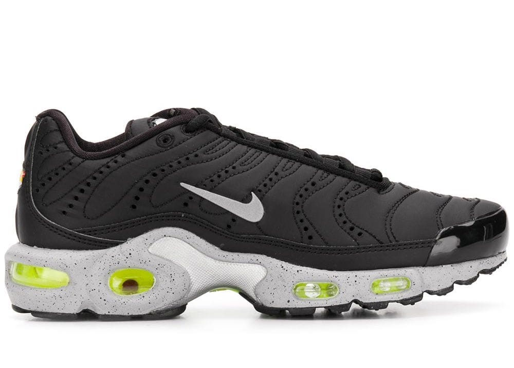 Nike Air Max Plus Premium Tn Black Matte Silver Sneakers Herren