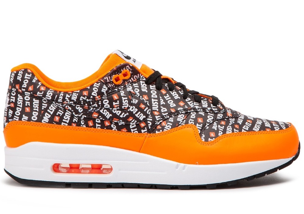 best sneakers 13bcd 1746e Dettagli su NIKE AIR MAX 1 PREMIUM JUST DO IT BLACK ORANGE SNEAKERS SCARPE  UOMO 875844-008