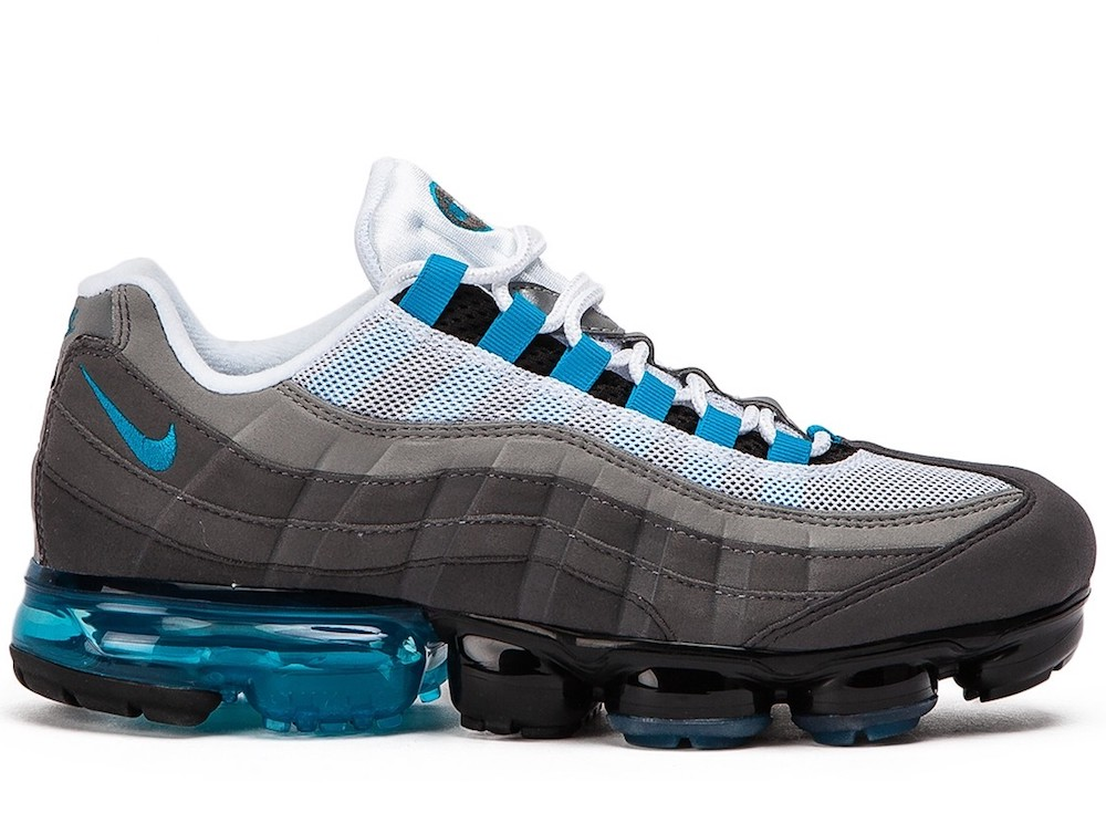 promo code 0ab6f 44ad8 Details about NIKE AIR VAPORMAX 95 BLACK NEO TURQUOISE SNEAKERS SCARPE UOMO  AJ7292-002