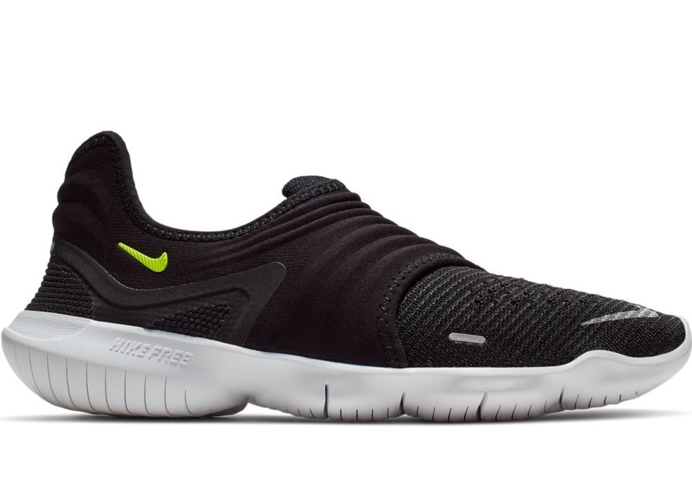 Details about Nike Free Run Flyknit 3.0 BlackVolt Sneakers Womens Shoes AQ5708 001 show original title