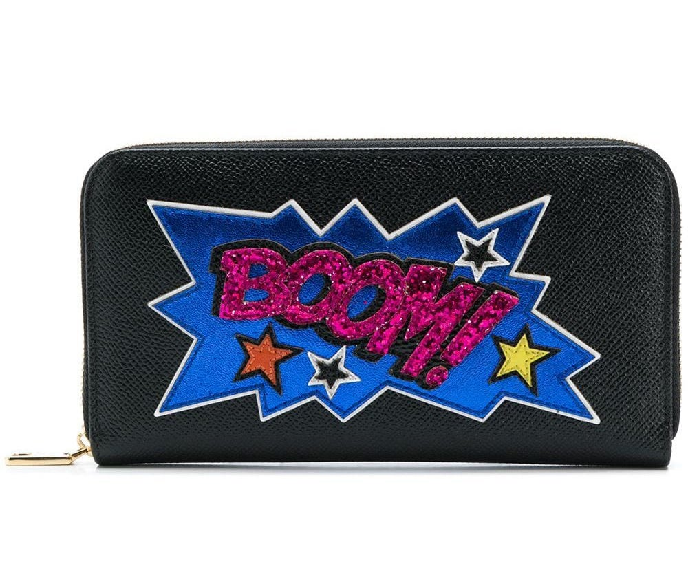 Boom Logo Zip Wallet