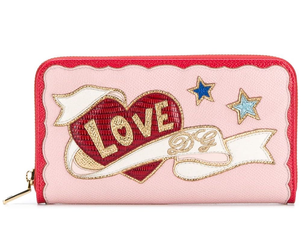 Love Logo Zip Wallet