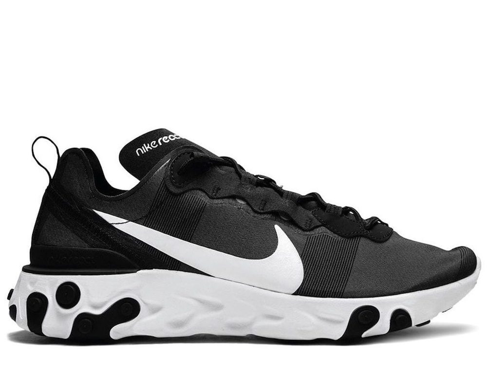 React Element 55 Black/White Sneakers