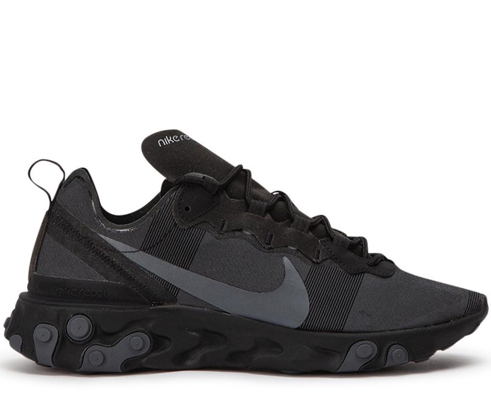 React Element 55 Black Sneakers