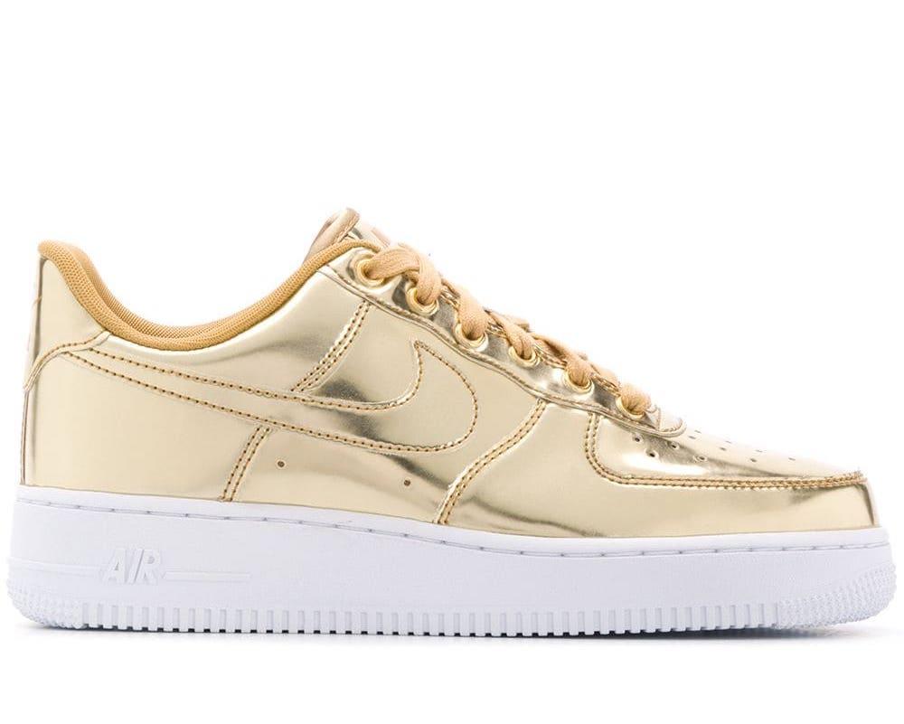 Air Force 1 SP Metallic Gold Sneakers