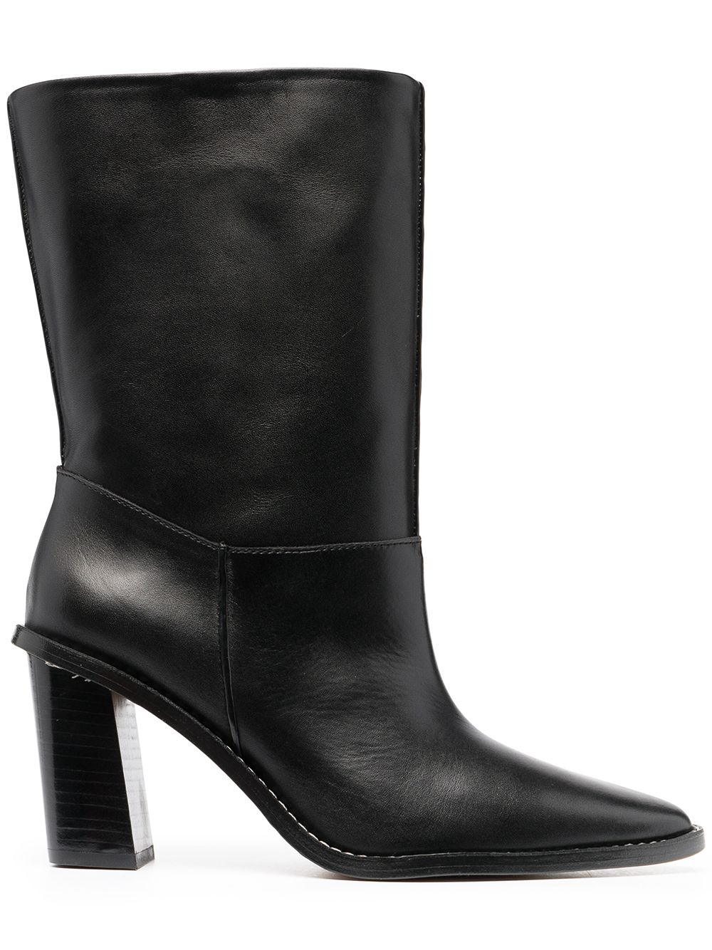 K Line Pointed-Toe Ankle Boots