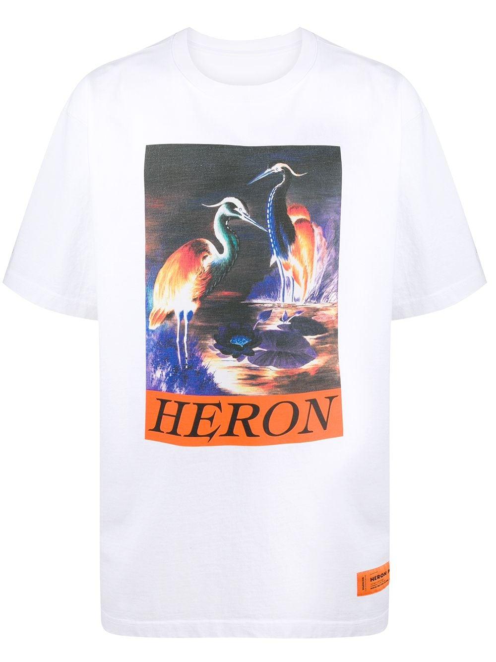 Heron Times OS Logo Print T-Shirt