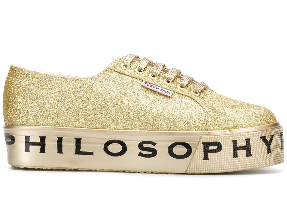 Philosophy x Superga Microglitter Sneakers