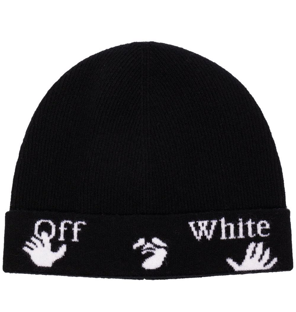 Off-White Felted Wool Logo Beanie