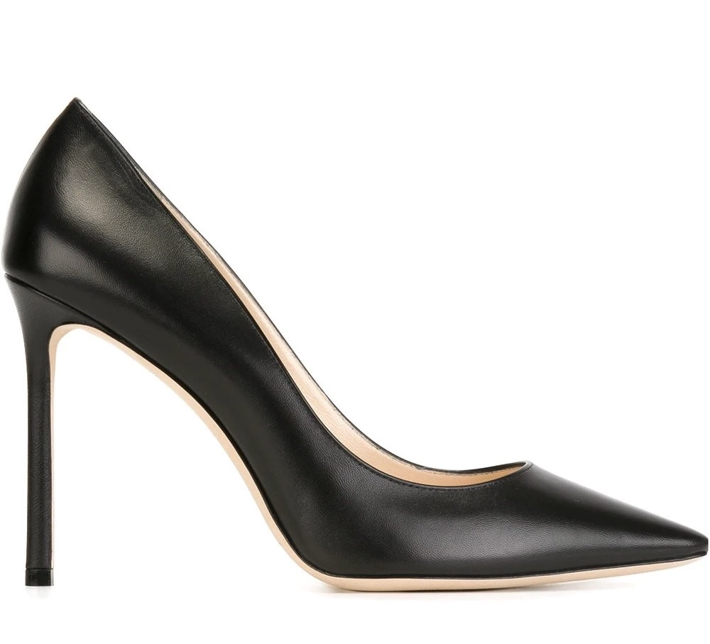 e321ad4eb87 Details about JIMMY CHOO HEELS ROMY 100 BLACK PUMPS WOMEN SHOES MADE IN  ITALY